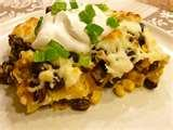images of Tortilla And Black Bean Pie Recipe