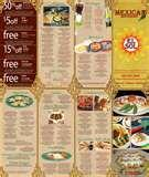 pictures of Mexican Restaurant Menu